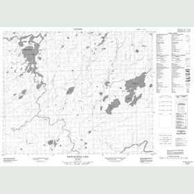 Canadian Topo Map - Wigwascence Lake - Map 053A06