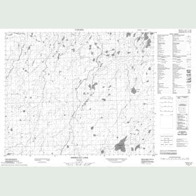 Canadian Topo Map - Sheridan Lake - Map 053A10
