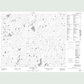 Canadian Topo Map - Michikenis Lake - Map 053A11