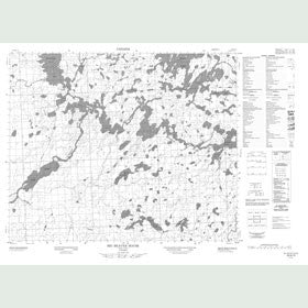 Canadian Topo Map - Big Beaver House - Map 053A13