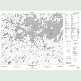 Canadian Topo Map - Wunnummin Lake - Map 053A14