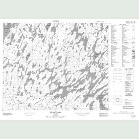 Canadian Topo Map - Sennett Lake - Map 053A15