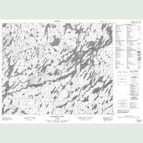 Canadian Topo Map - Wapikopa Lake - Map 053A16