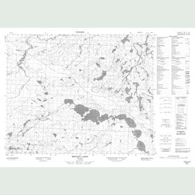 Canadian Topo Map - Menako Lakes - Map 053B01