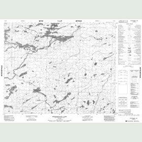 Canadian Topo Map - Kecheokagan Lake - Map 053B02