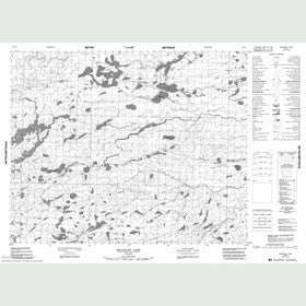 Canadian Topo Map - McCauley Lake - Map 053B04