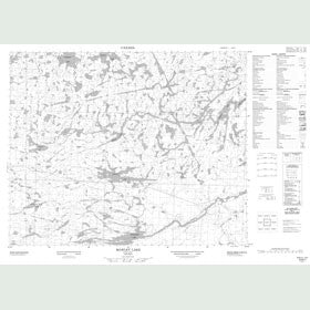 Canadian Topo Map - Mawley Lake - Map 053B07