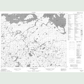 Canadian Topo Map - Donnelly River - Map 053B10