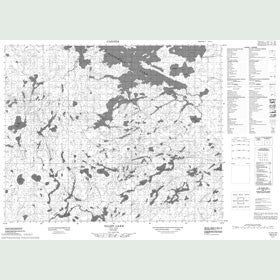 Canadian Topo Map - Ollen Lake - Map 053C02