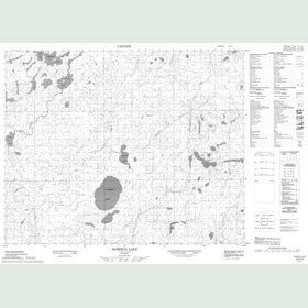 Canadian Topo Map - Sampson Lake - Map 053C03