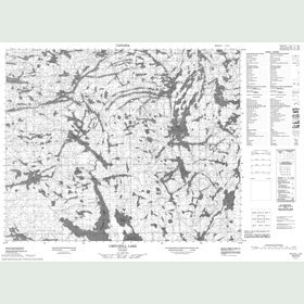 Canadian Topo Map - Critchell Lake - Map 053C05