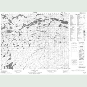 Canadian Topo Map - Margot Lake - Map 053C06