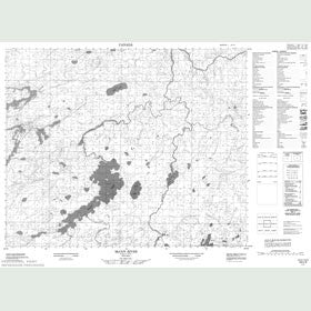 Canadian Topo Map - McCoy River - Map 053C09