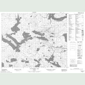 Canadian Topo Map - Favourable Lake - Map 053C13