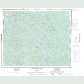 Canadian Topo Map - North Spirit Lake - Map 053C