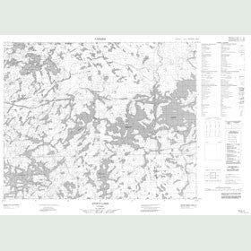 Canadian Topo Map - Stout Lake - Map 053D02