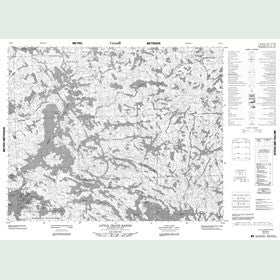 Canadian Topo Map - Little Grand Rapids - Map 053D03