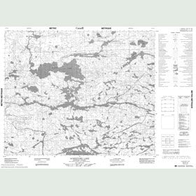 Canadian Topo Map - Acheetamo Lake - Map 053D14