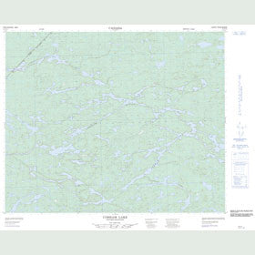 Canadian Topo Map - Cobham Lake - Map 053D15