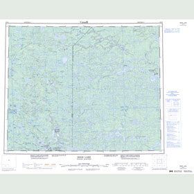 Canadian Topo Map - Deer Lake - Map 053D