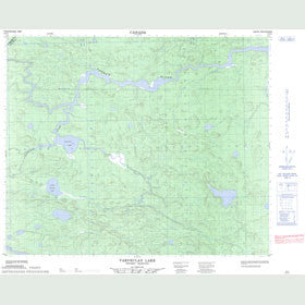 Canadian Topo Map - Varveclay Lake - Map 053E01