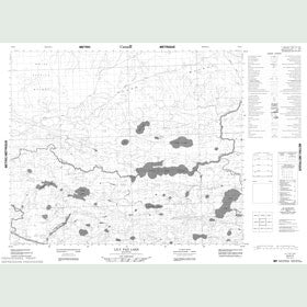 Canadian Topo Map - Lily Pad Lake - Map 053E03