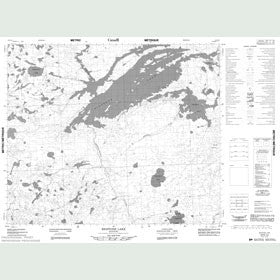 Canadian Topo Map - Bigstone Lake - Map 053E12