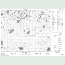 Canadian Topo Map - Peekwachana Lake - Map 053F06