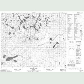 Canadian Topo Map - Menaeko Lake - Map 053F07