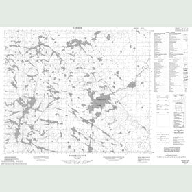 Canadian Topo Map - Pasateko Lake - Map 053F10
