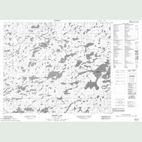 Canadian Topo Map - Seeber Lake - Map 053F14