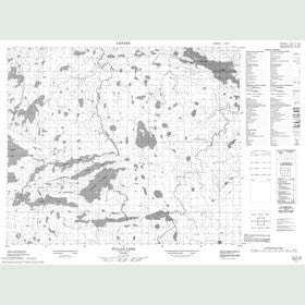 Canadian Topo Map - Pullen Lake - Map 053F15
