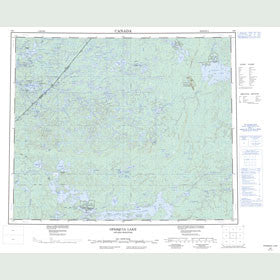 Canadian Topo Map - Opasquia Lake - Map 053F