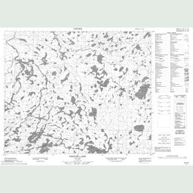 Canadian Topo Map - Nikitowa Lake - Map 053G02