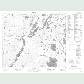 Canadian Topo Map - Asipoquobah Lake - Map 053G11
