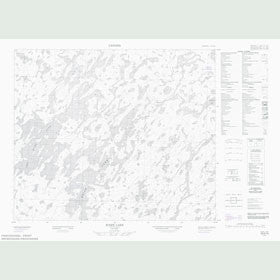 Canadian Topo Map - Two River Lake - Map 053G14