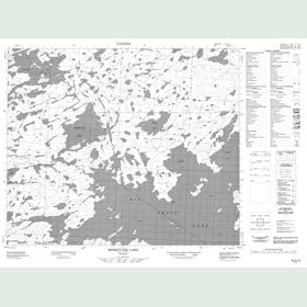 Canadian Topo Map - Misikeyask Lake - Map 053G16