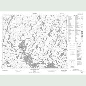Canadian Topo Map - Kingfisher Lake - Map 053H04