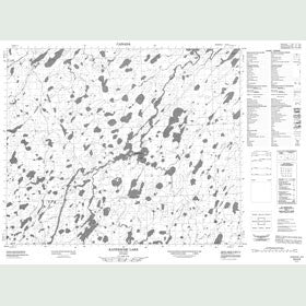 Canadian Topo Map - Kaneesose Lake - Map 053H05