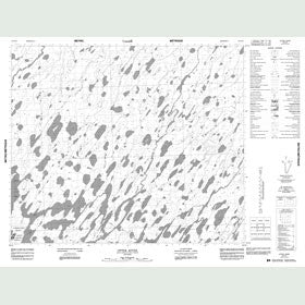 Canadian Topo Map - Otter River - Map 053H14