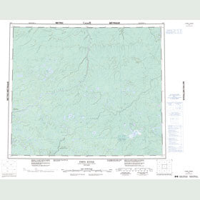Canadian Topo Map - Fawn River - Map 053I