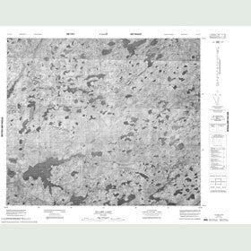 Canadian Topo Map - Ellard Lake - Map 053J12