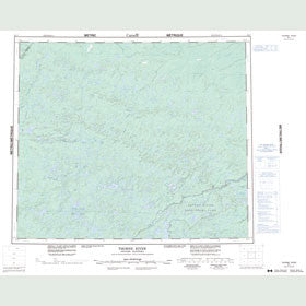 Canadian Topo Map - Thorne River - Map 053J