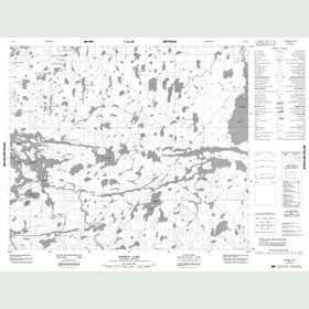 Canadian Topo Map - Robson Lake - Map 053K03