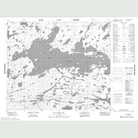 Canadian Topo Map - Red Sucker Lake - Map 053K04