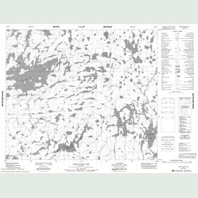 Canadian Topo Map - Makataysip Lake - Map 053K06