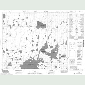 Canadian Topo Map - Kenyon Lake - Map 053K14