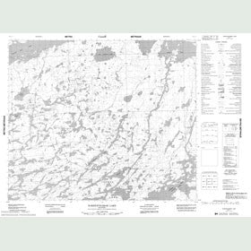 Canadian Topo Map - Kakeenukamak Lake - Map 053L02