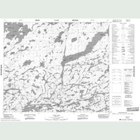 Canadian Topo Map - Opom Lake - Map 053L03