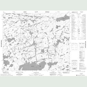 Canadian Topo Map - Bolton Lake - Map 053L05
